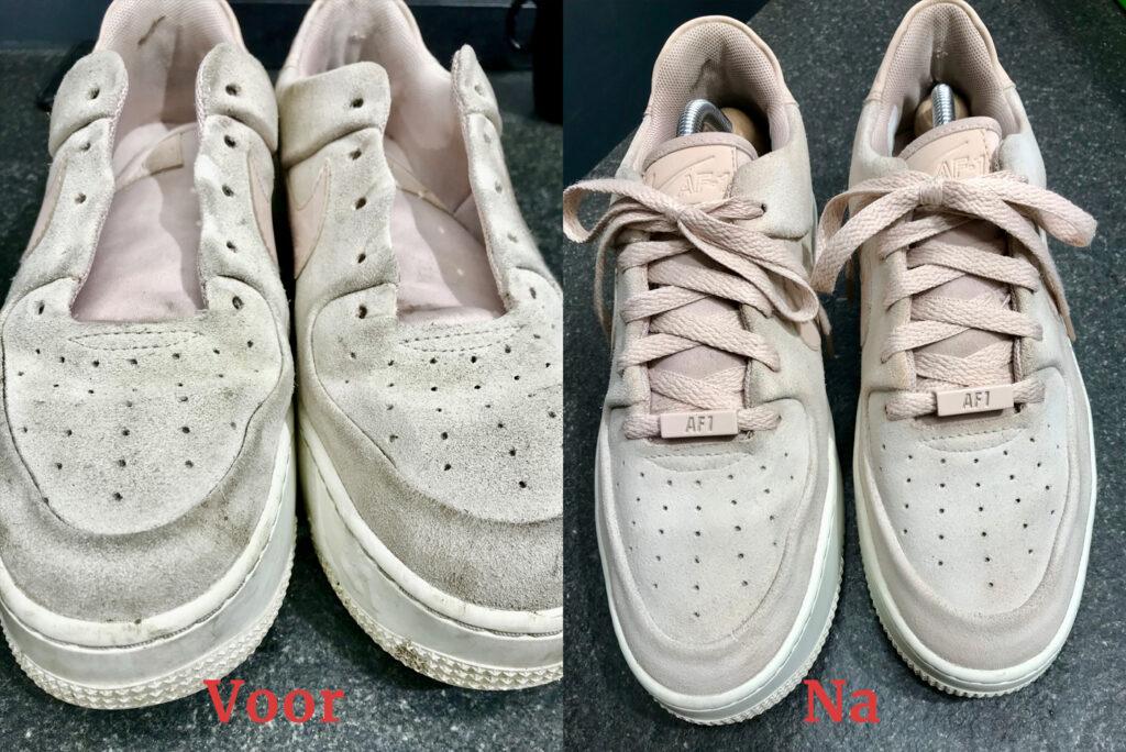 Suede sneakers reiniging