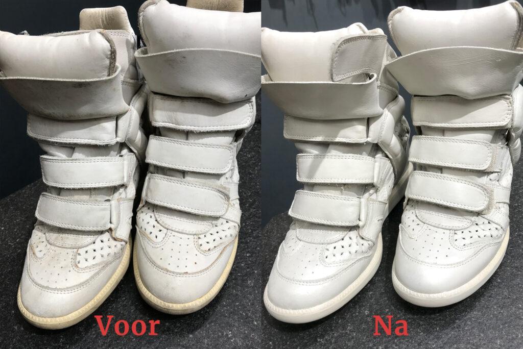 Hoge Sneaker laars reinigen