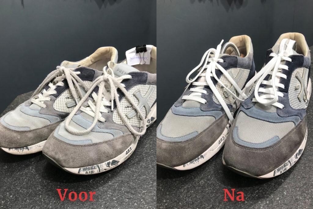 Running schoenen gereinigd